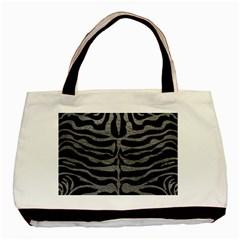Skin2 Black Marble & Gray Leather Basic Tote Bag by trendistuff