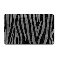Skin4 Black Marble & Gray Leather (r) Magnet (rectangular) by trendistuff