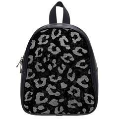 Skin5 Black Marble & Gray Leather (r) School Bag (small) by trendistuff
