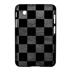 Square1 Black Marble & Gray Leather Samsung Galaxy Tab 2 (7 ) P3100 Hardshell Case  by trendistuff
