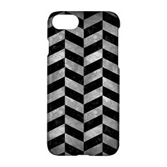 Chevron1 Black Marble & Gray Metal 2 Apple Iphone 7 Hardshell Case by trendistuff