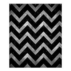Chevron9 Black Marble & Gray Metal 2 Shower Curtain 60  X 72  (medium)  by trendistuff