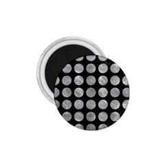 Circles1 Black Marble & Gray Metal 2 1 75  Magnets by trendistuff