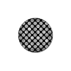 Circles2 Black Marble & Gray Metal 2 Golf Ball Marker by trendistuff