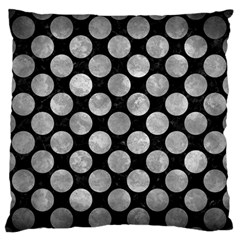 Circles2 Black Marble & Gray Metal 2 Large Flano Cushion Case (two Sides) by trendistuff
