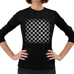 Circles2 Black Marble & Gray Metal 2 (r) Women s Long Sleeve Dark T Shirts by trendistuff