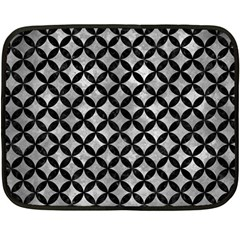 Circles3 Black Marble & Gray Metal 2 (r) Double Sided Fleece Blanket (mini)  by trendistuff