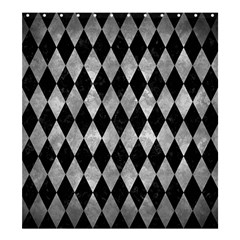 Diamond1 Black Marble & Gray Metal 2 Shower Curtain 66  X 72  (large)  by trendistuff