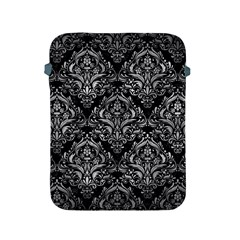 Damask1 Black Marble & Gray Metal 2 Apple Ipad 2/3/4 Protective Soft Cases by trendistuff
