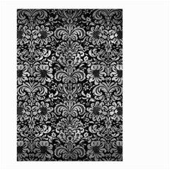 Damask2 Black Marble & Gray Metal 2 Small Garden Flag (two Sides) by trendistuff