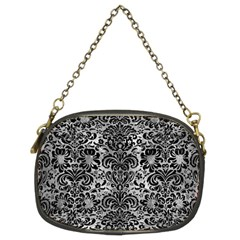 Damask2 Black Marble & Gray Metal 2 (r) Chain Purses (two Sides)  by trendistuff