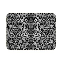Damask2 Black Marble & Gray Metal 2 (r) Double Sided Flano Blanket (mini)  by trendistuff