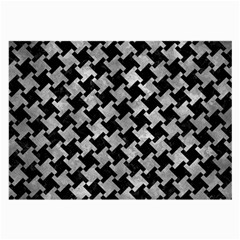 Houndstooth2 Black Marble & Gray Metal 2 Large Glasses Cloth by trendistuff