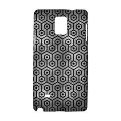 Hexagon1 Black Marble & Gray Metal 2 (r) Samsung Galaxy Note 4 Hardshell Case by trendistuff