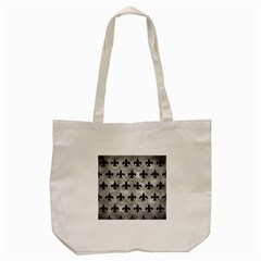 Royal1 Black Marble & Gray Metal 2 Tote Bag (cream) by trendistuff