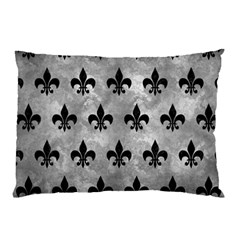 Royal1 Black Marble & Gray Metal 2 Pillow Case (two Sides) by trendistuff