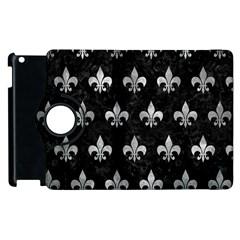 Royal1 Black Marble & Gray Metal 2 (r) Apple Ipad 3/4 Flip 360 Case by trendistuff