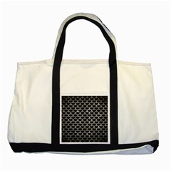 Scales3 Black Marble & Gray Metal 2 Two Tone Tote Bag by trendistuff