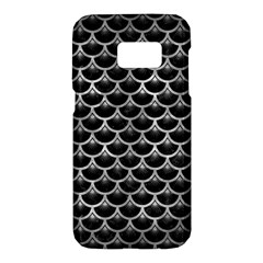 Scales3 Black Marble & Gray Metal 2 Samsung Galaxy S7 Hardshell Case