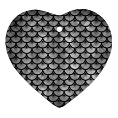 Scales3 Black Marble & Gray Metal 2 (r) Ornament (heart) by trendistuff