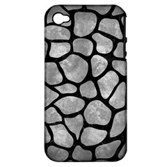 Skin1 Black Marble & Gray Metal 2 Apple Iphone 4/4s Hardshell Case (pc+silicone) by trendistuff