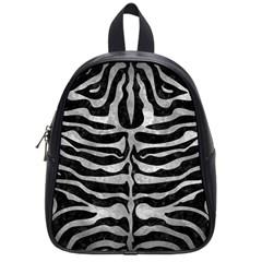 Skin2 Black Marble & Gray Metal 2 School Bag (small)