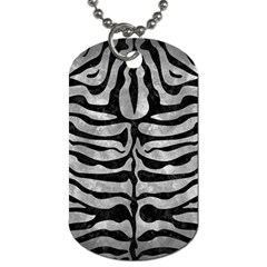 Skin2 Black Marble & Gray Metal 2 (r) Dog Tag (two Sides) by trendistuff