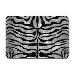 Skin2 Black Marble & Gray Metal 2 (r) Small Doormat  by trendistuff