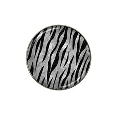 Skin3 Black Marble & Gray Metal 2 (r) Hat Clip Ball Marker (10 Pack) by trendistuff