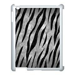 Skin3 Black Marble & Gray Metal 2 (r) Apple Ipad 3/4 Case (white) by trendistuff