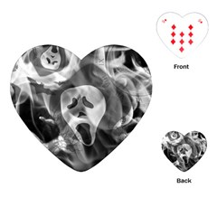 Creepy Halloween Playing Cards (heart)  by AllOverIt