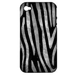 Skin4 Black Marble & Gray Metal 2 (r) Apple Iphone 4/4s Hardshell Case (pc+silicone) by trendistuff