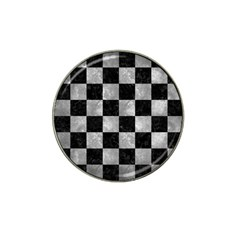 Square1 Black Marble & Gray Metal 2 Hat Clip Ball Marker (4 Pack) by trendistuff