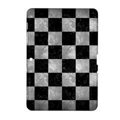 Square1 Black Marble & Gray Metal 2 Samsung Galaxy Tab 2 (10 1 ) P5100 Hardshell Case  by trendistuff