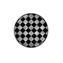 Square2 Black Marble & Gray Metal 2 Hat Clip Ball Marker (10 Pack) by trendistuff