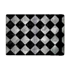 Square2 Black Marble & Gray Metal 2 Apple Ipad Mini Flip Case by trendistuff