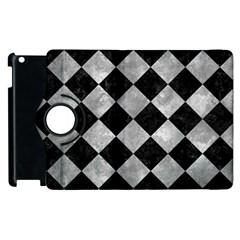 Square2 Black Marble & Gray Metal 2 Apple Ipad 2 Flip 360 Case by trendistuff