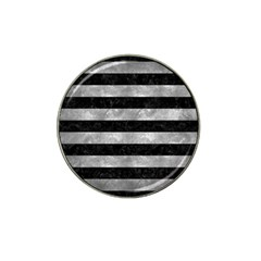 Stripes2 Black Marble & Gray Metal 2 Hat Clip Ball Marker (4 Pack) by trendistuff