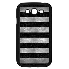 Stripes2 Black Marble & Gray Metal 2 Samsung Galaxy Grand Duos I9082 Case (black) by trendistuff