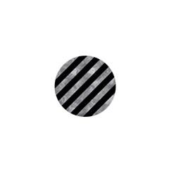 Stripes3 Black Marble & Gray Metal 2 1  Mini Buttons by trendistuff
