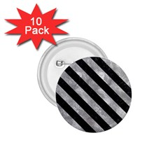 Stripes3 Black Marble & Gray Metal 2 (r) 1 75  Buttons (10 Pack) by trendistuff