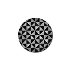 Triangle1 Black Marble & Gray Metal 2 Golf Ball Marker by trendistuff