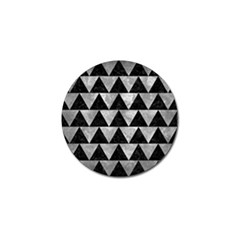Triangle2 Black Marble & Gray Metal 2 Golf Ball Marker by trendistuff
