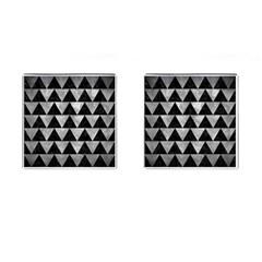 Triangle2 Black Marble & Gray Metal 2 Cufflinks (square) by trendistuff