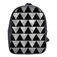 Triangle2 Black Marble & Gray Metal 2 School Bag (large)