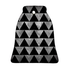 Triangle2 Black Marble & Gray Metal 2 Bell Ornament (two Sides) by trendistuff