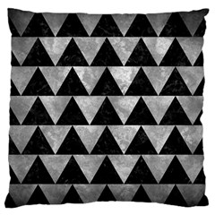 Triangle2 Black Marble & Gray Metal 2 Standard Flano Cushion Case (two Sides) by trendistuff