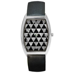 Triangle3 Black Marble & Gray Metal 2 Barrel Style Metal Watch by trendistuff