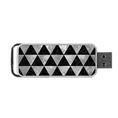 Triangle3 Black Marble & Gray Metal 2 Portable Usb Flash (two Sides) by trendistuff