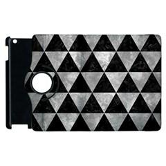 Triangle3 Black Marble & Gray Metal 2 Apple Ipad 2 Flip 360 Case by trendistuff